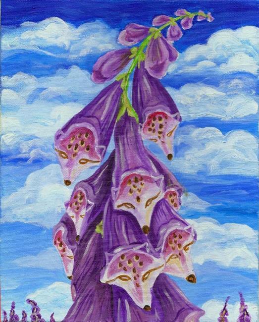 Art: Fantasy Foxglove by Artist Kim Loberg