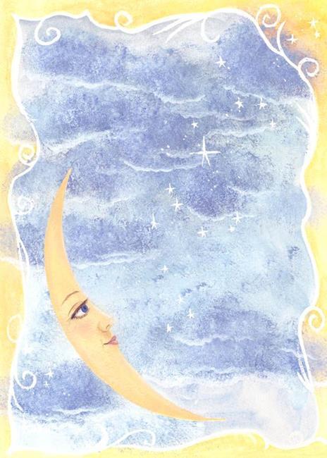 Art: Moon & Stars by Artist Cynthia Schmidt