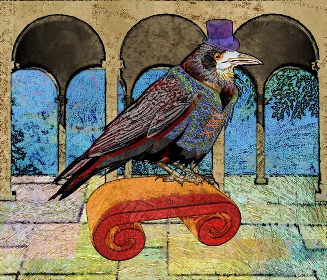 Art: Well Dressed Raven by Artist Mary Ogle