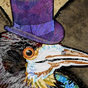 Detail Image for art Well Dressed Raven