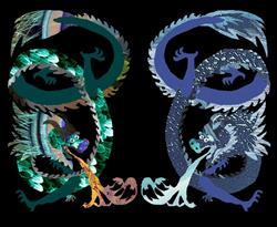 Art: Water and earth dragon by Artist Carissa M Martos
