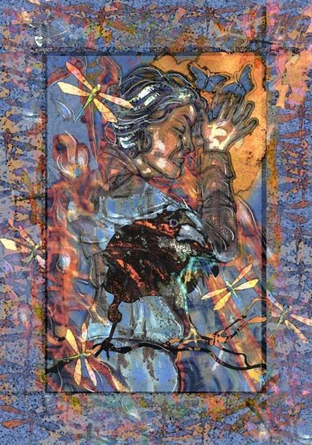 Art: Raven by Artist Mary Ogle