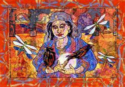 Art: Diana the Moon Goddess by Artist Mary Ogle