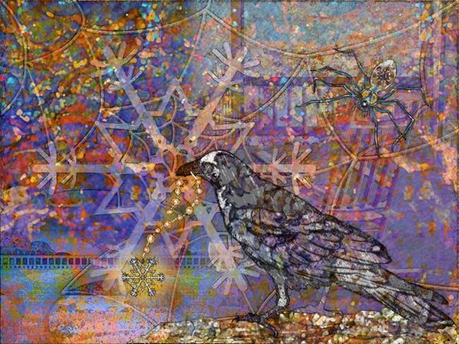 Art: Winter Web by Artist Mary Ogle