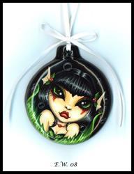 Art: Holly Mermaid Ornament by Artist Elaina Wagner