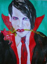Art: Dracula Comes Courting by Artist Delilah Smith