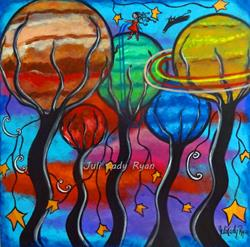 Art: Little Space Travelers by Artist Juli Cady Ryan