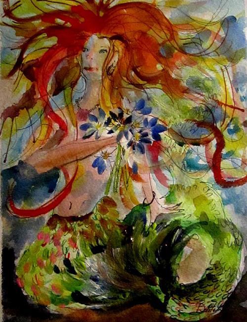 Art: Mermaid-sold by Artist Delilah Smith