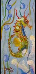 Art: Seahorse by Artist Delilah Smith