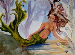 Art: Mermaid by Artist Delilah Smith