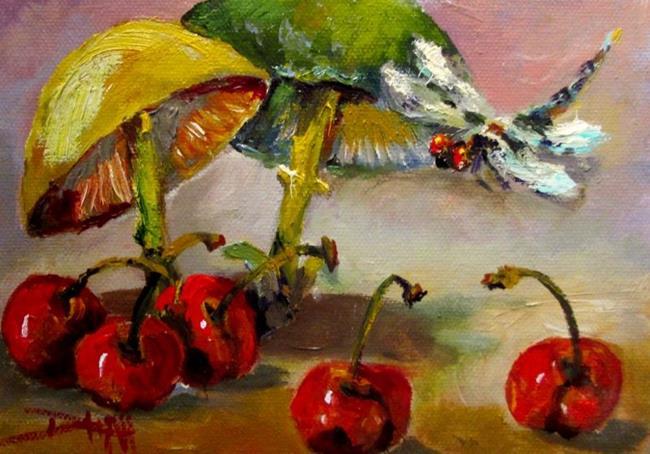 Art: Cherry Garden by Artist Delilah Smith