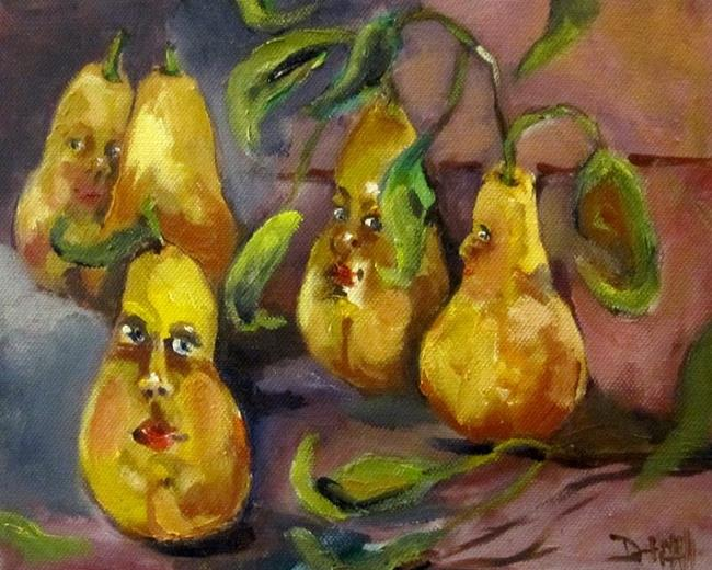 Art: Pear People by Artist Delilah Smith