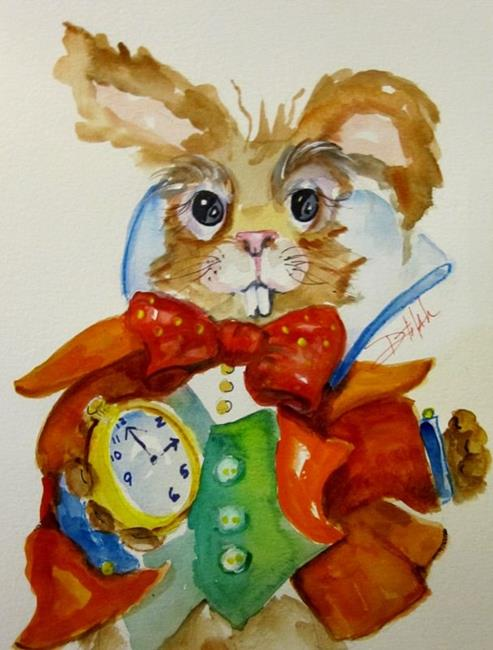 Art: I'm Late-sold by Artist Delilah Smith