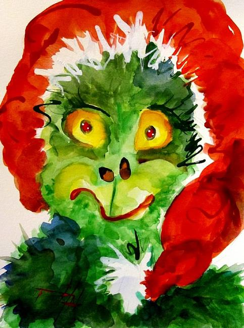 Art: Oh My the Grinch-SOLD by Artist Delilah Smith