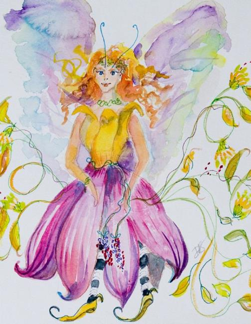 Art: Flower Fairy by Artist Delilah Smith