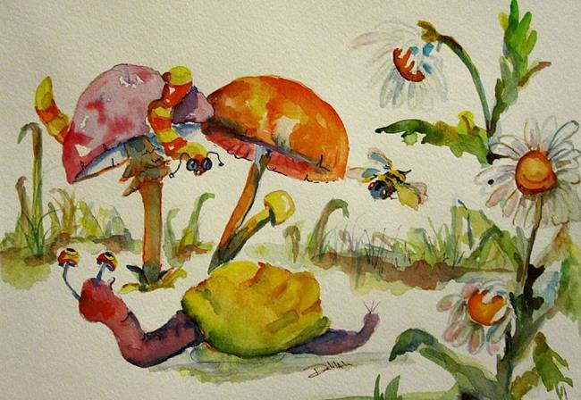 Art: Snail Land SOLD by Artist Delilah Smith