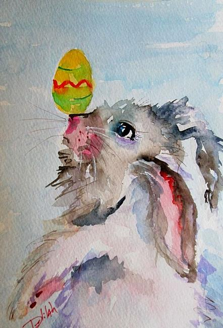 Art: Happy Easter Bunny by Artist Delilah Smith