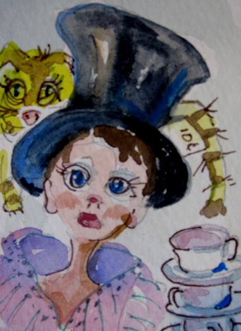 Art: The Mad Hatter Aceo-sold by Artist Delilah Smith