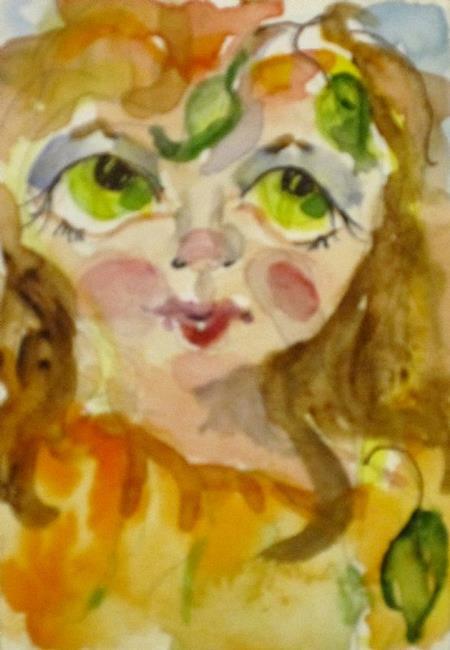 Art: Pumpkin Fairy by Artist Delilah Smith