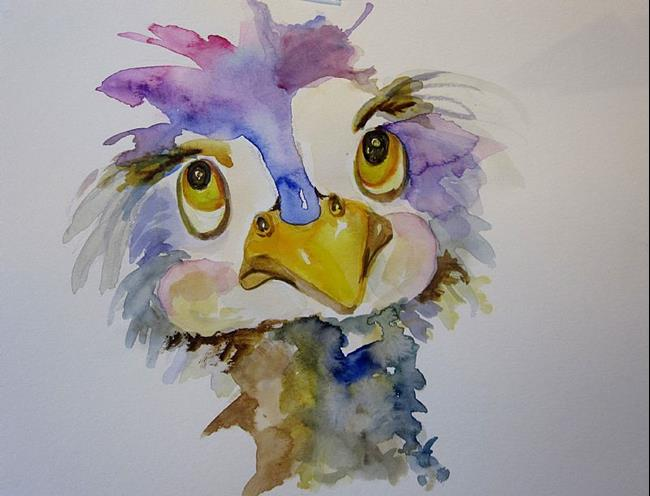 Art: Just Thinking Ostrich by Artist Delilah Smith