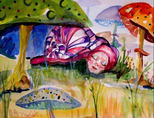 Art: Sleeping Baby Snail by Artist Delilah Smith