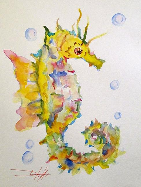 Art: SeaHorse No. 3 by Artist Delilah Smith