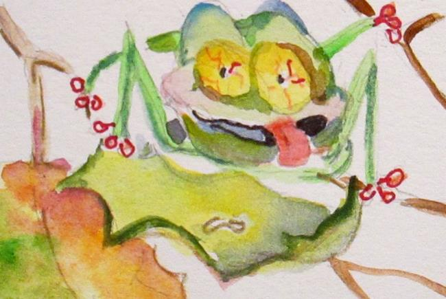 Art: Tree Frog by Artist Delilah Smith