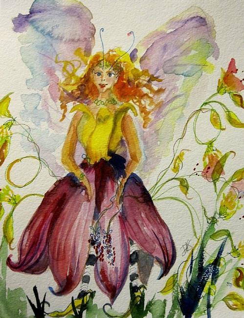 Art: Flower Fairy by Artist Delilah Smith