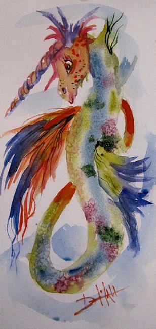 Art: Unicorn Seahorse by Artist Delilah Smith