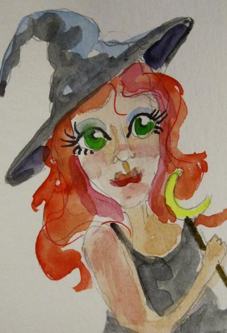 Art: Red Haired Witch by Artist Delilah Smith