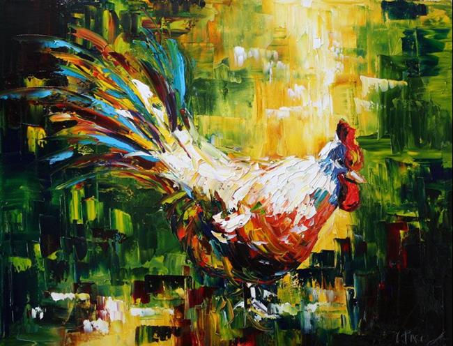 Art: Rooster Two 2007 by Artist Laurie Justus Pace