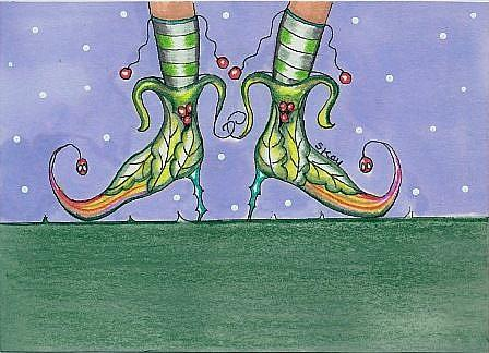 Art: Fairy Shoes-Sold by Artist Sherry Key