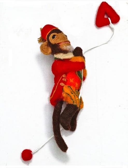 Art: Zip Zappy Monkey Climber by Artist Alma Lee