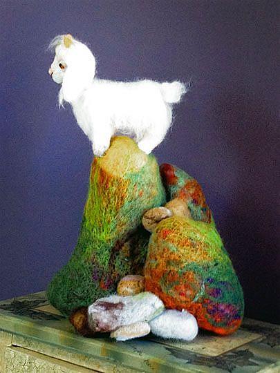 Art: Lonely Goat by Artist Alma Lee