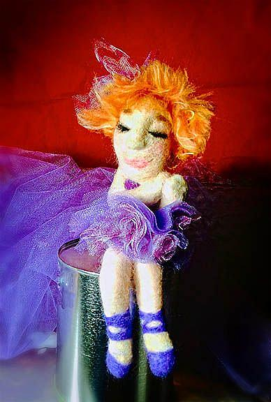 Art: Nina Ballerina Doll by Artist Alma Lee