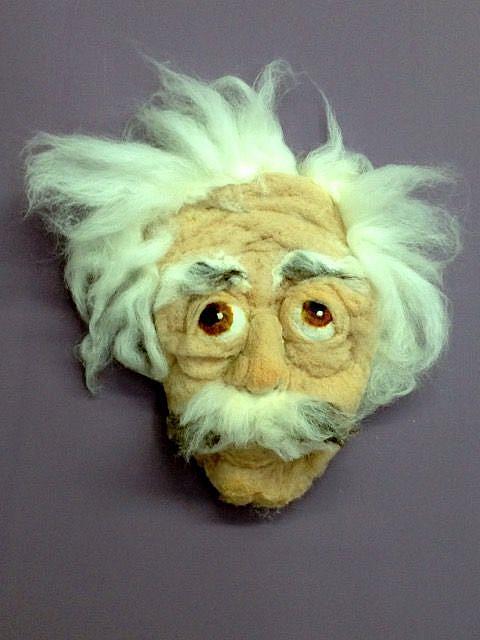 Art: Einstein Mask: Hide your ignorance by Artist Alma Lee
