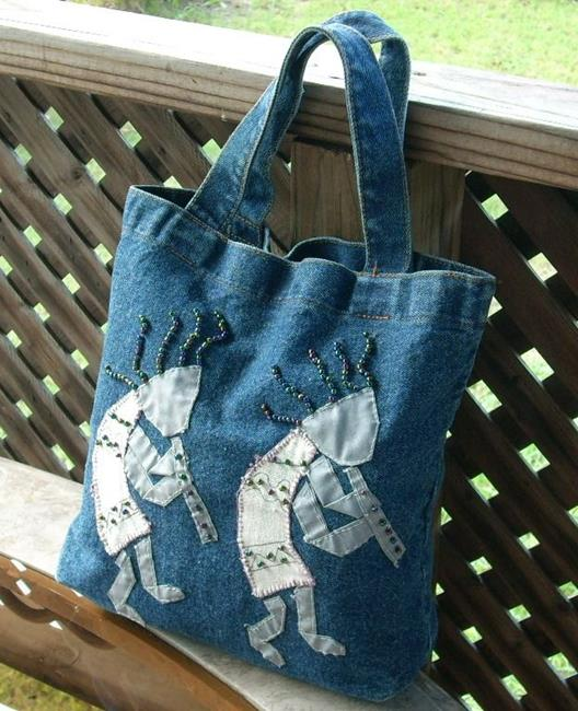 Art: Southwestern Kokopelli Tote by Artist Sherry Key