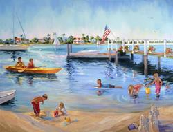 Art: Balboa Beach Summer by Artist Patricia  Lee Christensen