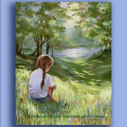 Art: Sunlit Solitude by Artist Patricia  Lee Christensen