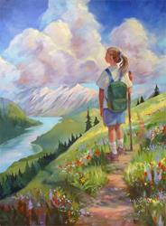 Art: Her Trail to the Mountain of the Lord's House by Artist Patricia  Lee Christensen