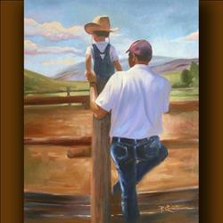 Art: Pardners by Artist Patricia  Lee Christensen