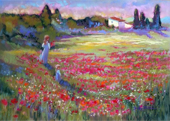 Art: Provence Poppy Fields by Artist Patricia  Lee Christensen