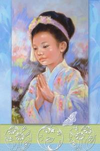 Detail Image for art Japanese Child Dancer - Bon Odori - Matted Print