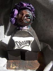 Art: Dreaming in Purple SOLD by Artist Nancy Denommee