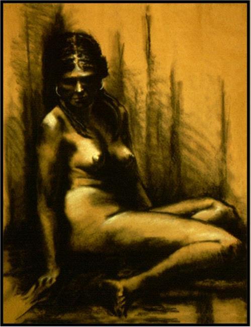 Art: Female Nude Study-97 by Artist David Mott