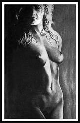 Art: Shadowed Nude 1994 by Artist David Mott