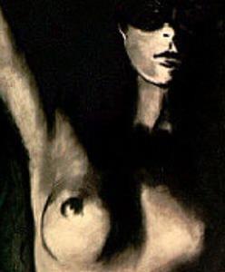 Detail Image for art Masked Nude in Doorway