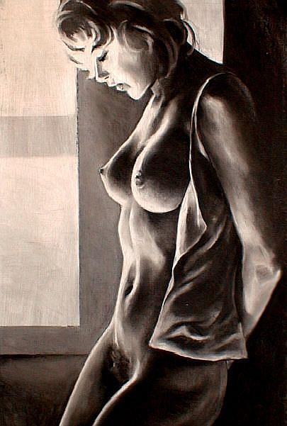 Art: Eva by the Window by Artist David Mott