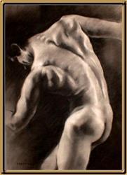 Art: Male Nude-92 by Artist David Mott