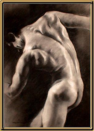 Art: Male Nude-92 by Artist David Mott